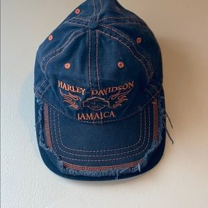 Frayed Harley Davidson Jamaica Hat
